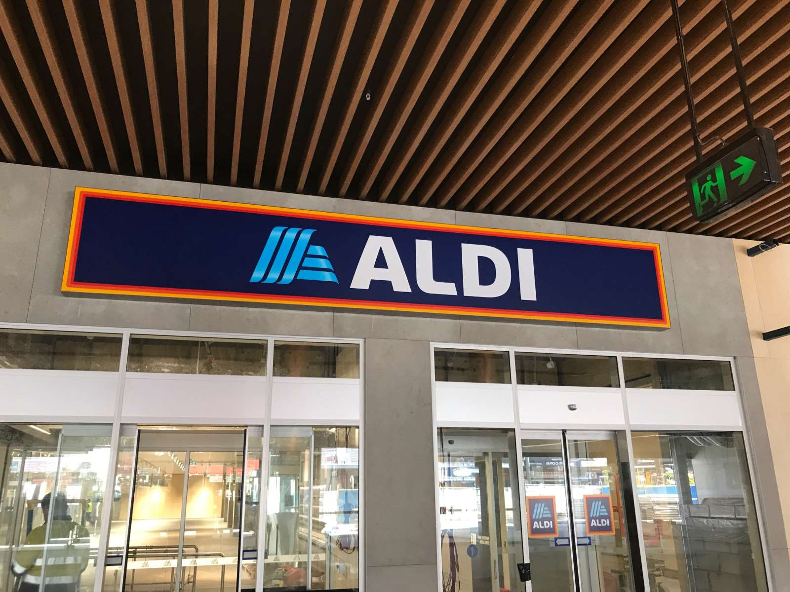 Aldi shopfront sign marketing