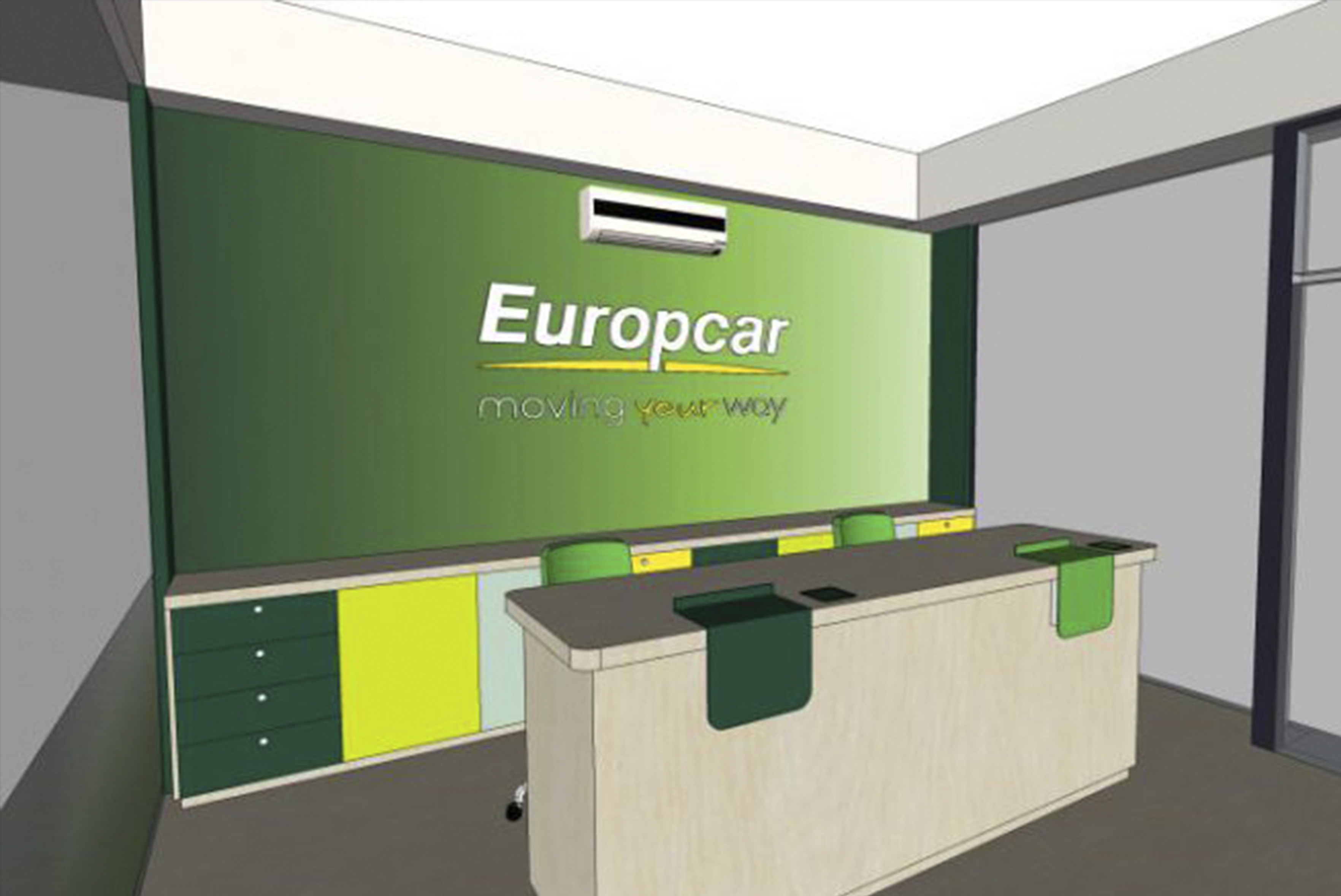 Europcar artwork signage design