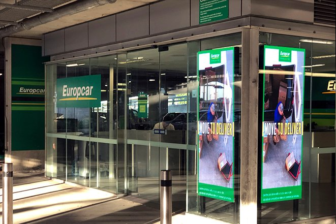 Europcar airport digital signage