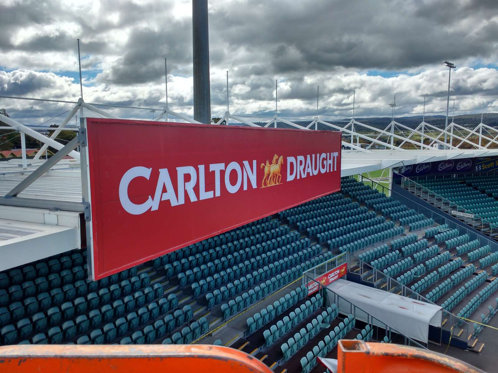 Carlton Draught stadium marketing sign