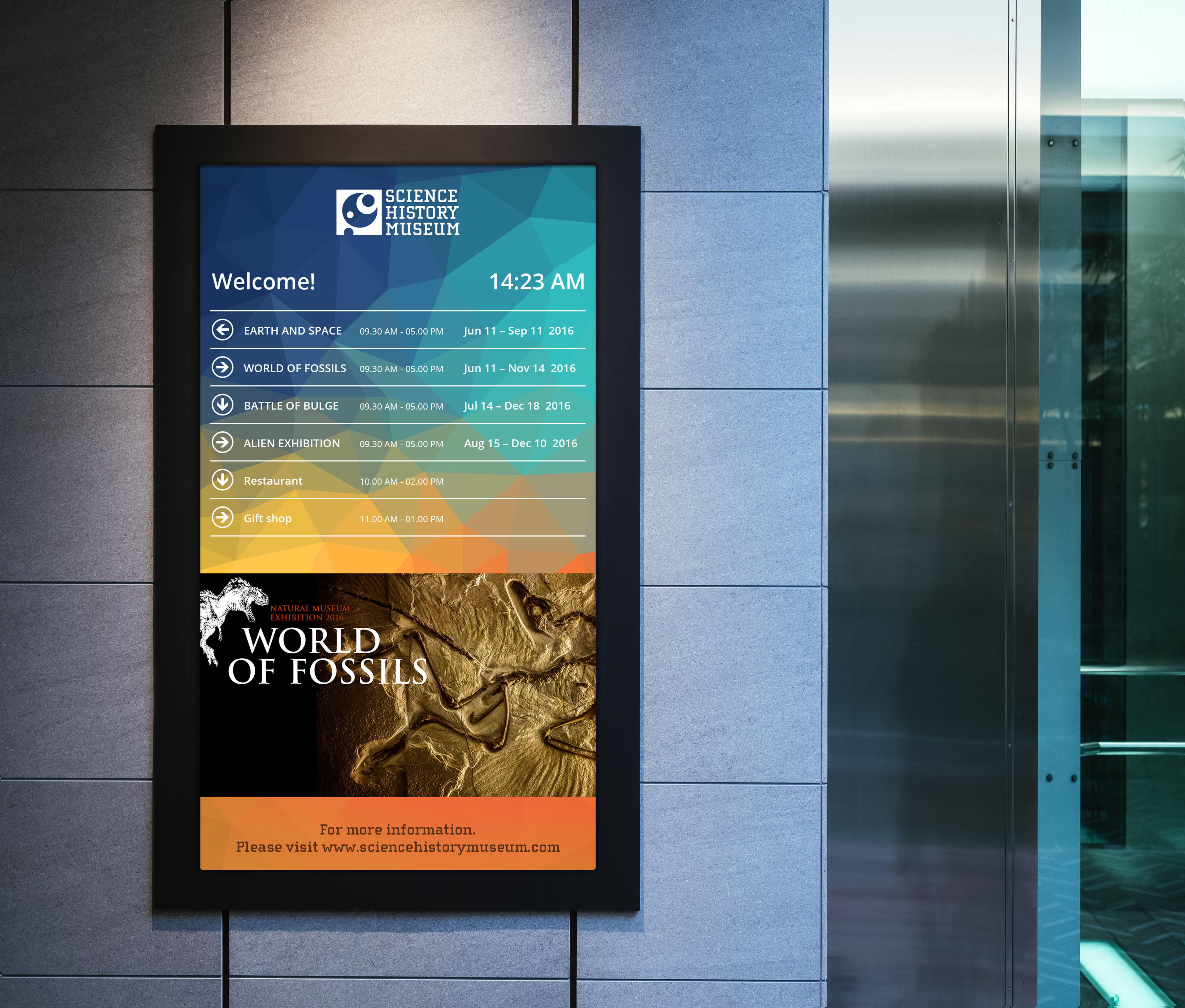 Museum Digital Signage Wayfinding